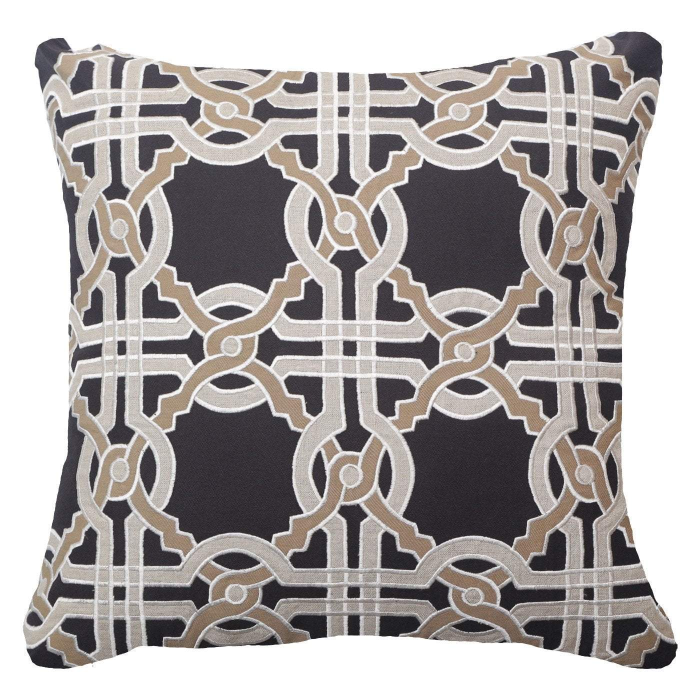 Intertwined Black Lounge Cushion 55x55cm