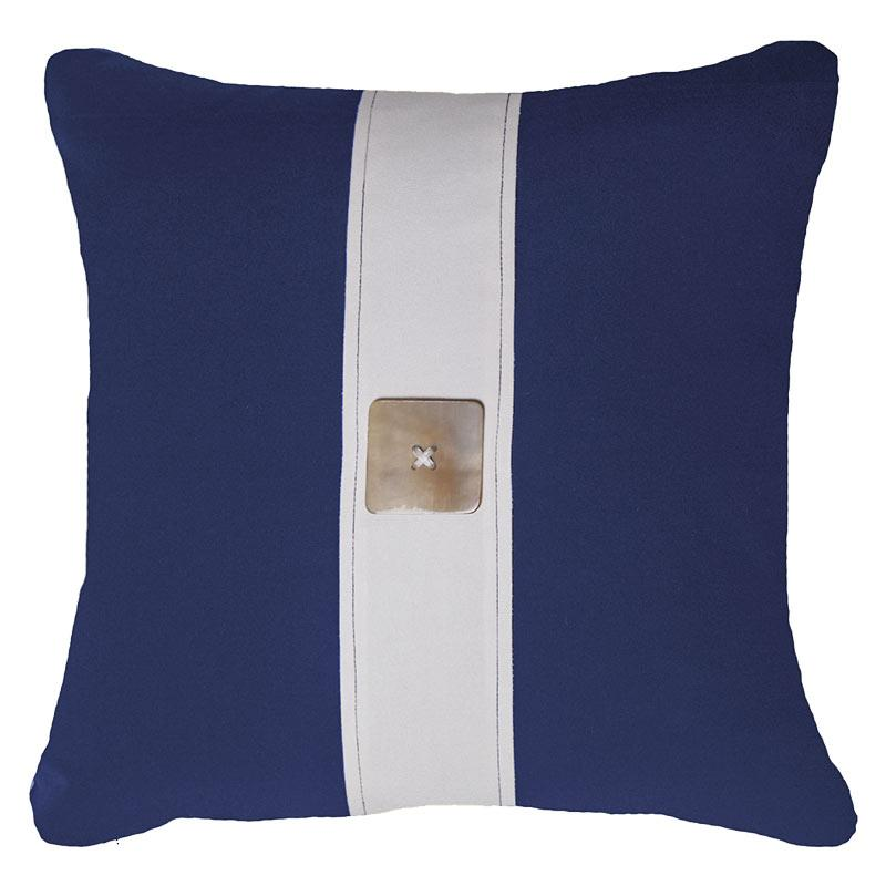 Bandhini Homewear Design Lounge Cushion Black / 22 x 22 Outdoor Horn Button Navy Lounge Cushion 55 x 55cm