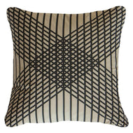 Bandhini Homewear Design Lounge Cushion Black / Primitive / 22 x 22 Paraglide Black Lounge Cushion 55 x 55 cm