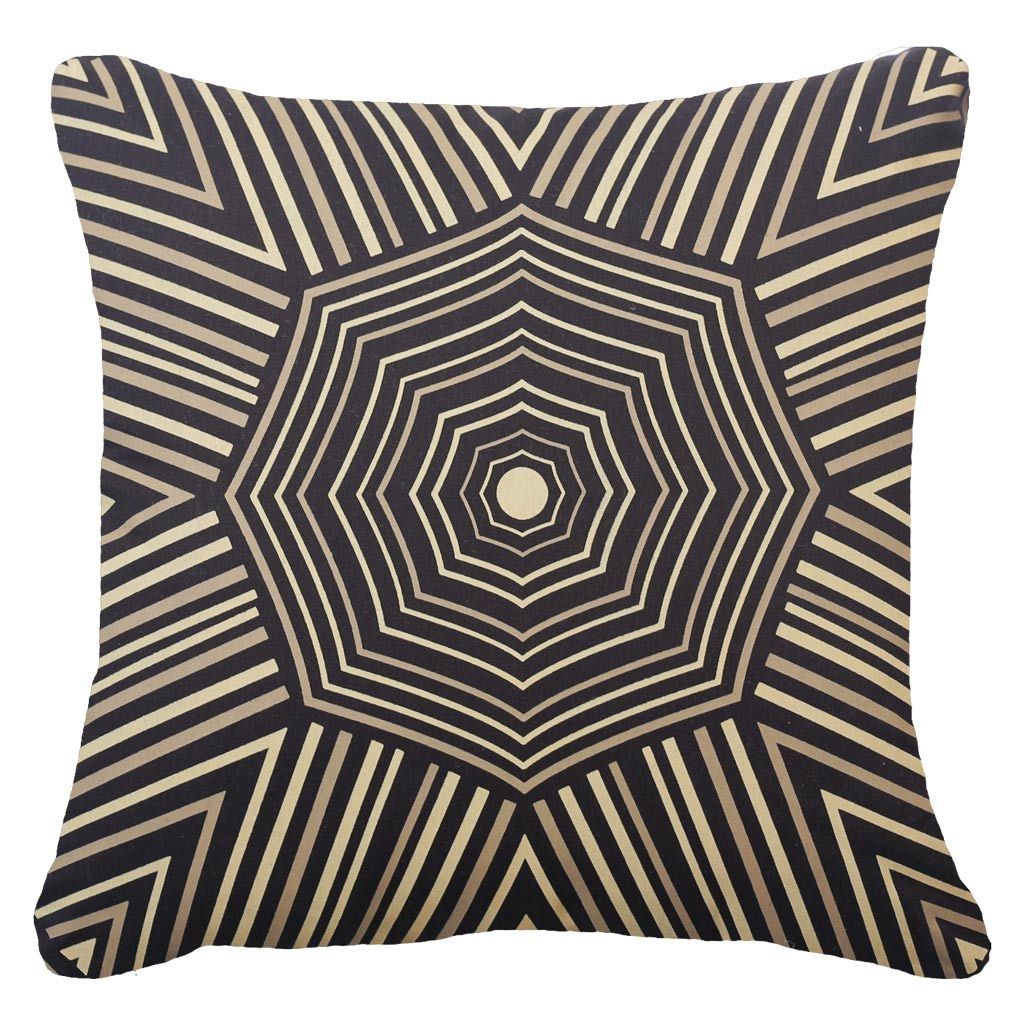 Bandhini Homewear Design Lounge Cushion Black / 22 x 22 Parasail Black Lounge Cushion 55 x 55 cm