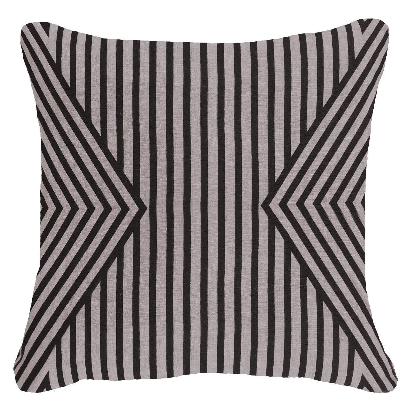 Bandhini Homewear Design Lounge Cushion Black / Exotic Dark / 22 x 22 Parasol Black Lounge Cushion 55 x 55 cm