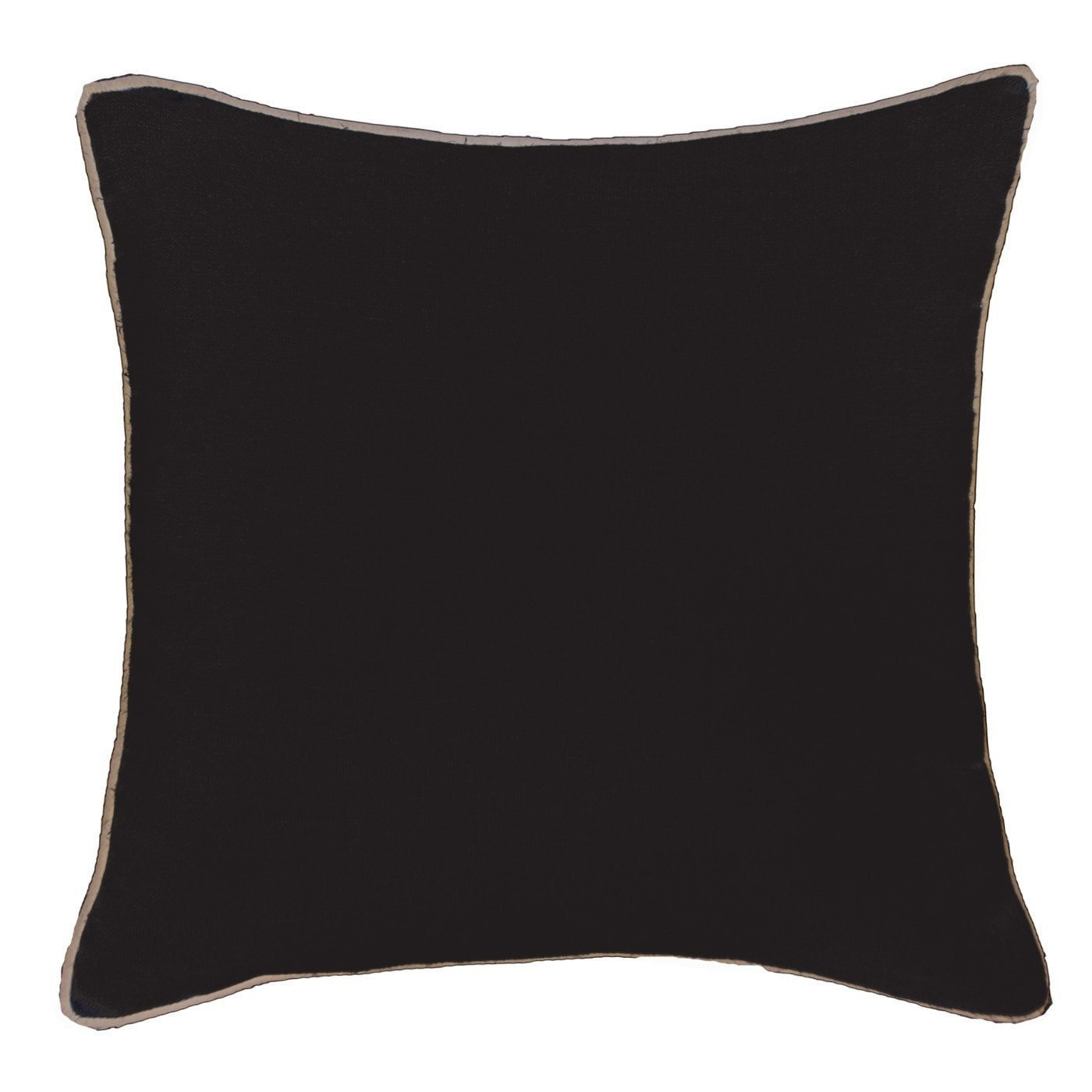 Bandhini Homewear Design Lounge Cushion Black / 22 x 22 Piped Linen Black Lounge Cushion 55 x 55 cm