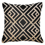 Bandhini Homewear Design Lounge Cushion Black / 22 x 22 Shoowa Arrow Black Lounge Cushion 55 x 55 cm