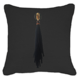Bandhini Homewear Design Lounge Cushion Black / 22 x 22 Tassel Mex on Black Linen Lounge Cushion 55 x 55 cm
