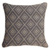 Bandhini Homewear Design Lounge Cushion Black / Primative / 22 x 22 Weave Cross Black Lounge Cushion 55 x 55 cm
