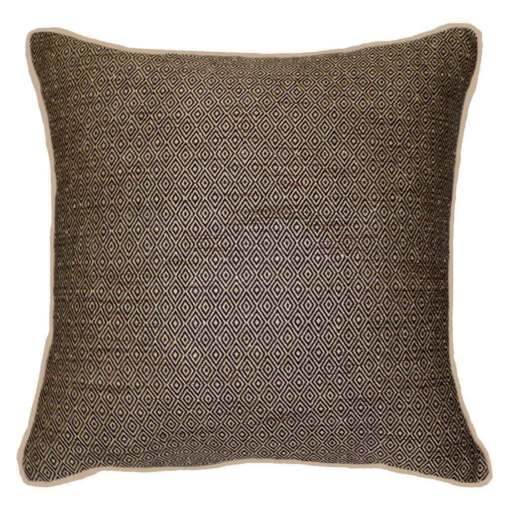 Bandhini Homewear Design Lounge Cushion Black / Primitive Tribe / 22 x 22 Weave Diamond Black/Beige Cushion 55x55cm
