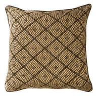 Bandhini Homewear Design Lounge Cushion Black / 22 x 22 Weave Phulkari Black Lounge Cushion 55 x 55 cm