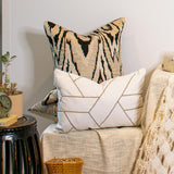 Bandhini Homewear Design Lounge Cushion Black / 22 x 22in Ikat Black Lounge Cushion 55x55cm