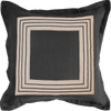 Bandhini Homewear Design Lounge Cushion Black / 25 x 25 Braid Inner Panel Flange Black Euro Cushion 65 x 65 cm