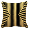 Bandhini Homewear Design Lounge Cushion Black Gold / 22 x 22 Outdoor Parasol Black Gold Lounge Cushion 55 x 55 cm