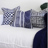 Bandhini Homewear Design Lounge Cushion Blue / 22 x 22 Jagger Print Navy Lounge Cushion 55 x 55 cm