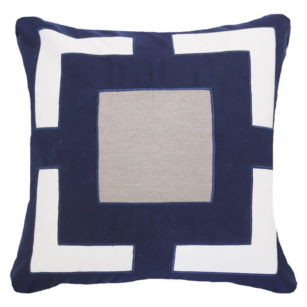 Bandhini Homewear Design Lounge Cushion Blue / Outdoor / 22 x 22 Outdoor Panel Navy Lounge Cushion 55 x 55 cm