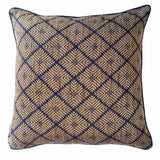 Bandhini Homewear Design Lounge Cushion Blue / 22 x 22 Weave Phulkari Navy Lounge Cushion 55 x 55 cm