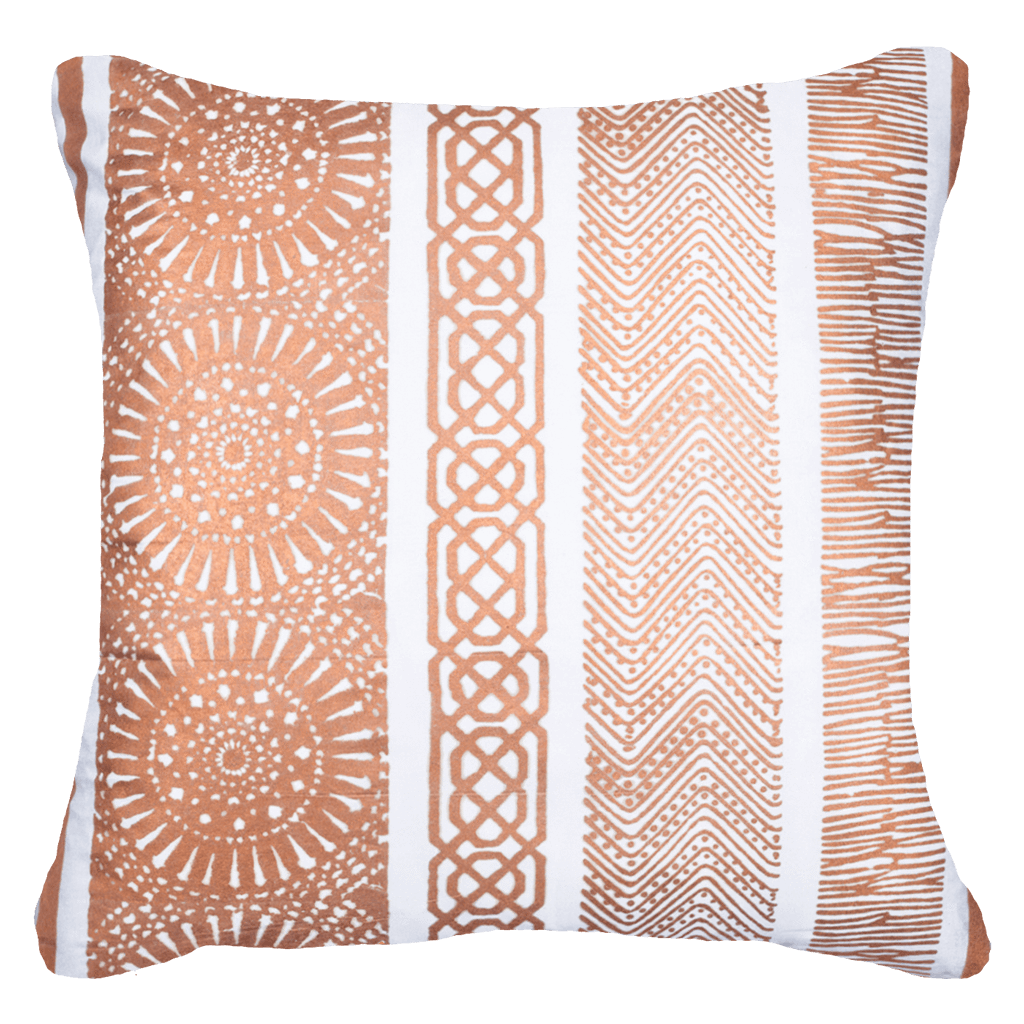 Bandhini Homewear Design Lounge Cushion Copper / Primitive / 18 x 18 Paths Copper Lounge Cushions 55 x 55 cm