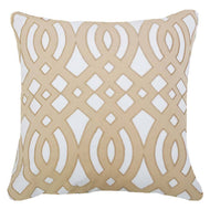 Bandhini Homewear Design Lounge Cushion Cream / Outdoor / 22 x 22 Outdoor Diamond Scroll Natural Lounge Cushion 55 x 55 cm