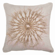 Bandhini Homewear Design Lounge Cushion Earth Linen / 22 x 22 Wood Twigs Natural Linen Lounge Cushion 55 x 55 cm