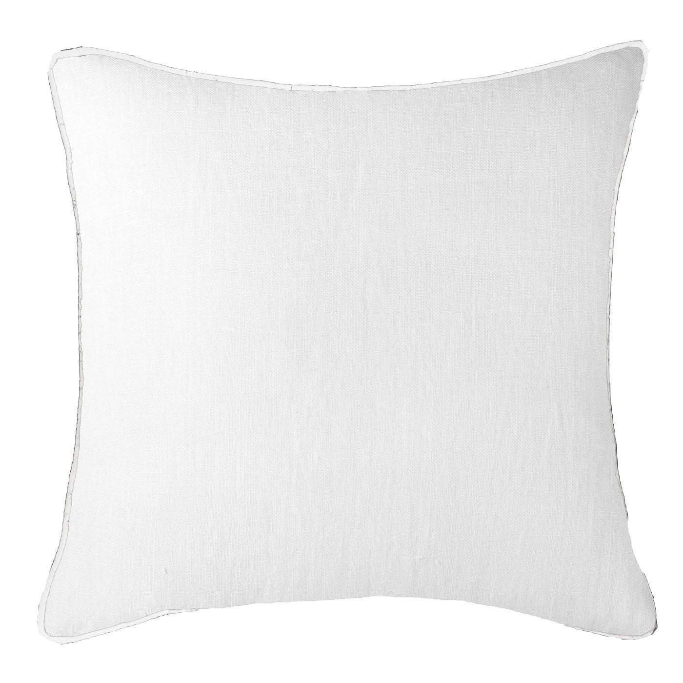Bandhini Homewear Design Lounge Cushion Earth White / Surf Tribe / 22 x 22 Piped Linen White Lounge Cushion 55 x 55 cm