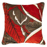 Bandhini Homewear Design Lounge Cushion Emerald / 22 x 22 Rake Applique Forest Velvet Rust Lounge Cushion