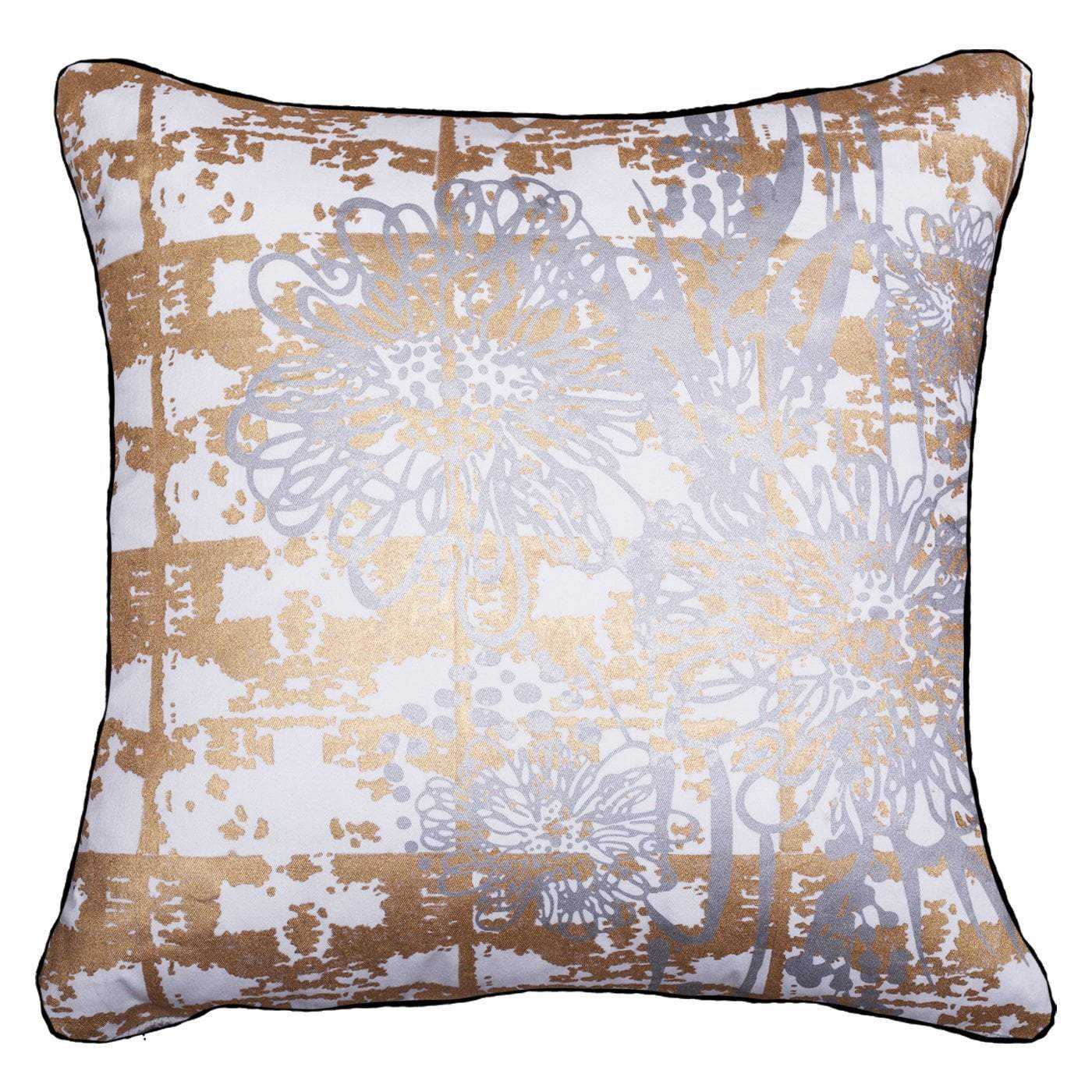 Bandhini Homewear Design Lounge Cushion Gold / 22 x 22 Grevilla Gold Silver Lounge Cushion 55 x 55 cm