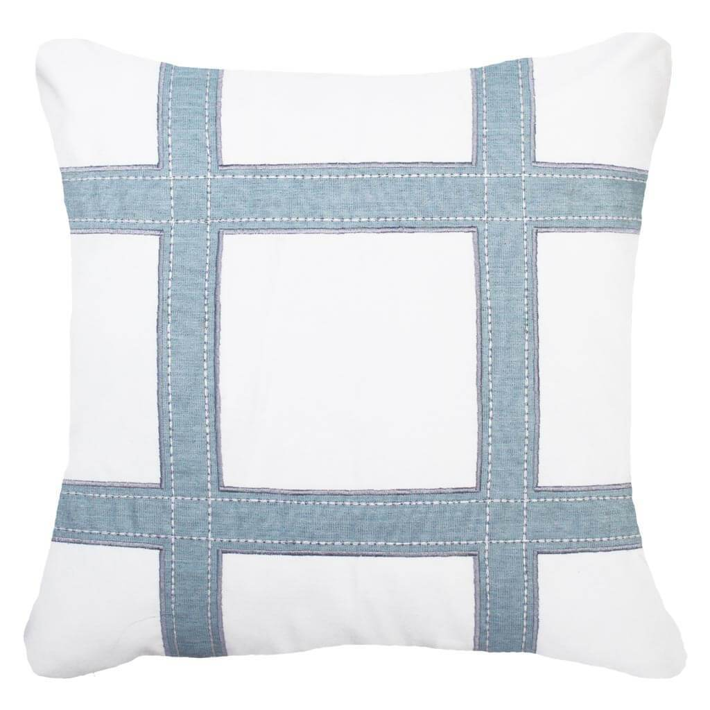Bandhini Homewear Design Lounge Cushion Cloud / Outdoor / 22 x 22 Outdoor Grid Cloud Lounge Cushion 55 x 55 cm