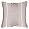 Bandhini Homewear Design Lounge Cushion Linen / Exotic Light / 22 x 22 Arrow Stripe Natural Lounge Cushion 55x55cm