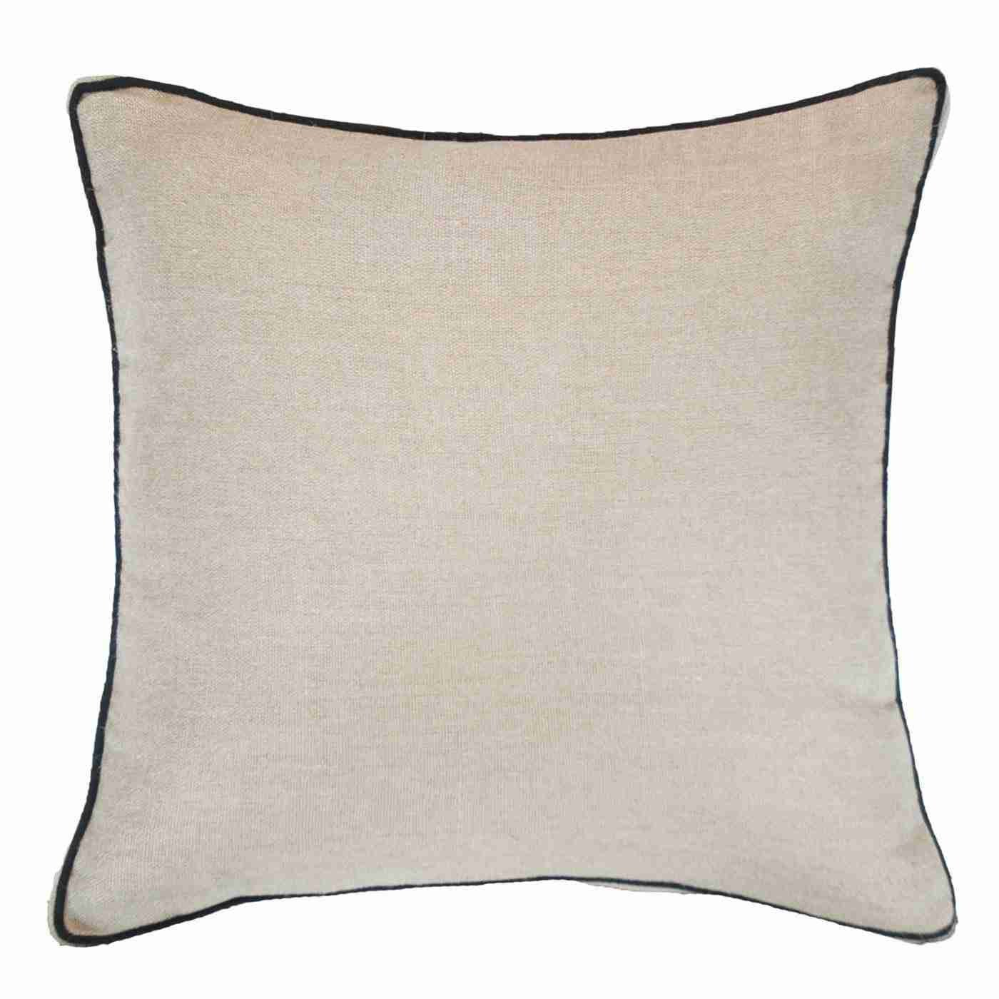 Bandhini Homewear Design Lounge Cushion Linen / 22 x 22 Piped Linen Natural Lounge Cushion 55 x 55 cm