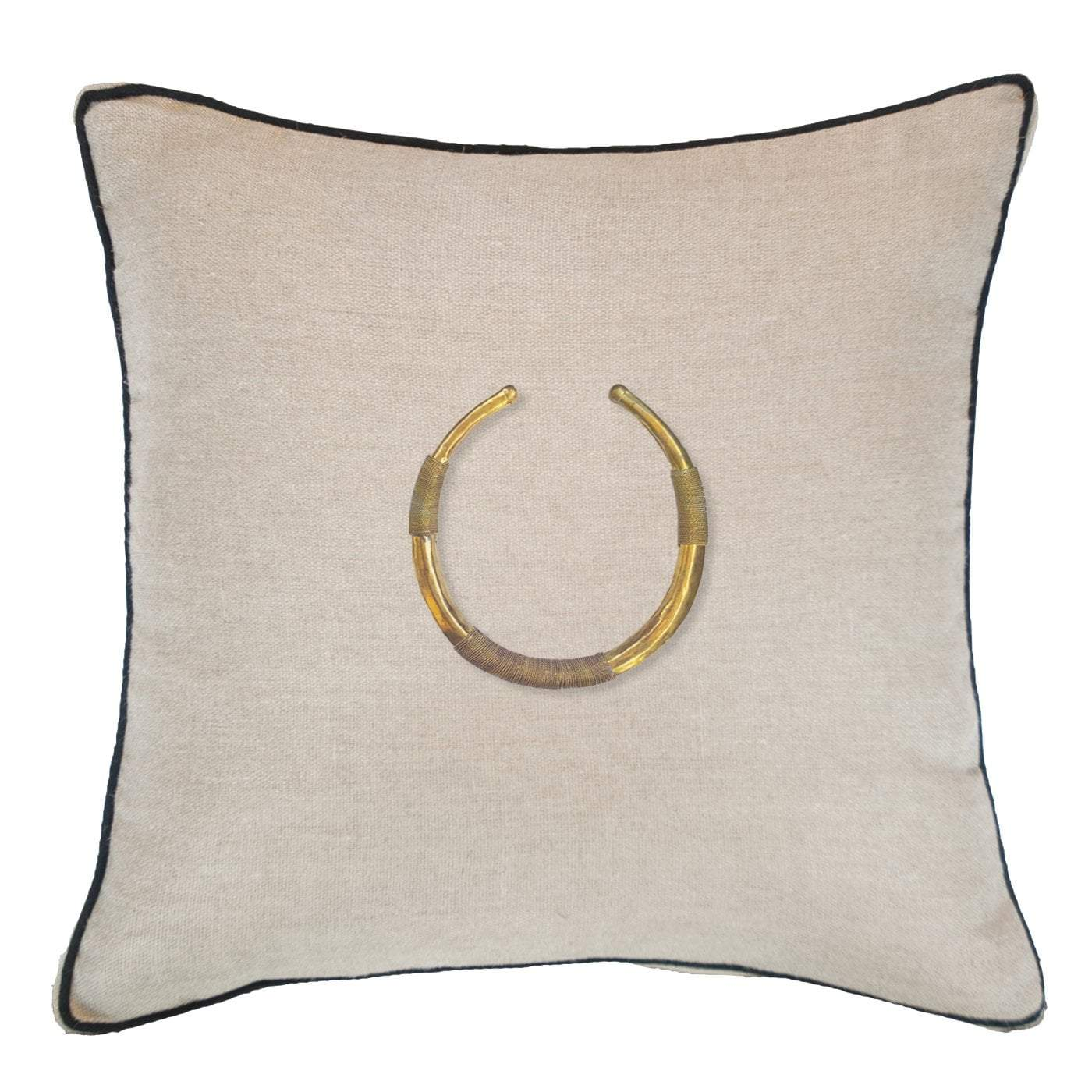 Bandhini Homewear Design Lounge Cushion Natural / 22 x 22 Amulet Delhi Natural Lounge Cushion 55x55cm