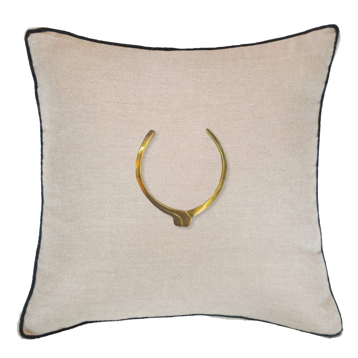 Bandhini Homewear Design Lounge Cushion Natural / 22 x 22 Amulet Egypt Natural Lounge Cushion 55x55cm