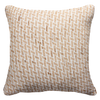 Bandhini Homewear Design Lounge Cushion Natural / Surf / 22 x 22 Bamboo Weave Natural Lounge Cushion 55x55cm