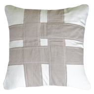 Bandhini Homewear Design Lounge Cushion Natural / Primitive / 22 x 22 Cross Sash Natural Lounge Cushion 55 x 55 cm