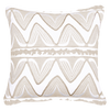 Bandhini Homewear Design Lounge Cushion Natural / 22 x 22 Ikat Ruby Black / Beige Lounge Cushion 55x55cm