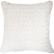 Bandhini Homewear Design Lounge Cushion Natural / 22 x 22 Inches Arrow Print White Natural Lounge Cushion