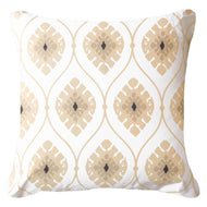 Bandhini Homewear Design Lounge Cushion Natural / Exotic Dark / 22 x 22 Inner Ikat Repeat Natural Lounge Cushion 55x55cm