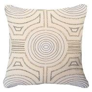 Bandhini Homewear Design Lounge Cushion Natural / Outdoor / 22 x 22 Outdoor Dreamtime Aboriginal Dot Natural Lounge Cushion 55 x 55 cm