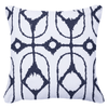 Bandhini Homewear Design Lounge Cushion Natural / Outdoor / 22 x 22 Outdoor Inner Ikat Diamond Navy Lounge Cushion 55 x 55 cm