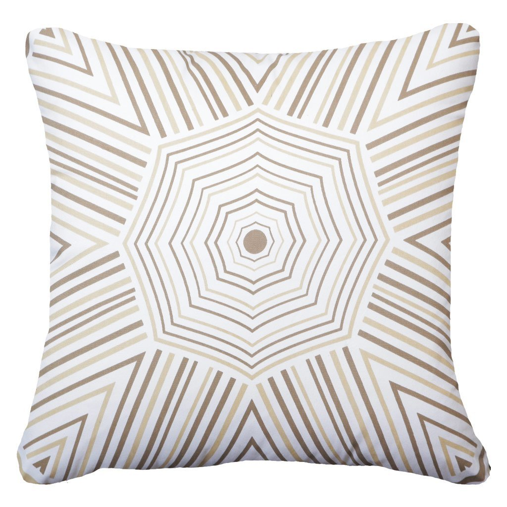 Bandhini Homewear Design Lounge Cushion Natural / 22 x 22 Parasail Natural Lounge Cushion 55 x 55 cm