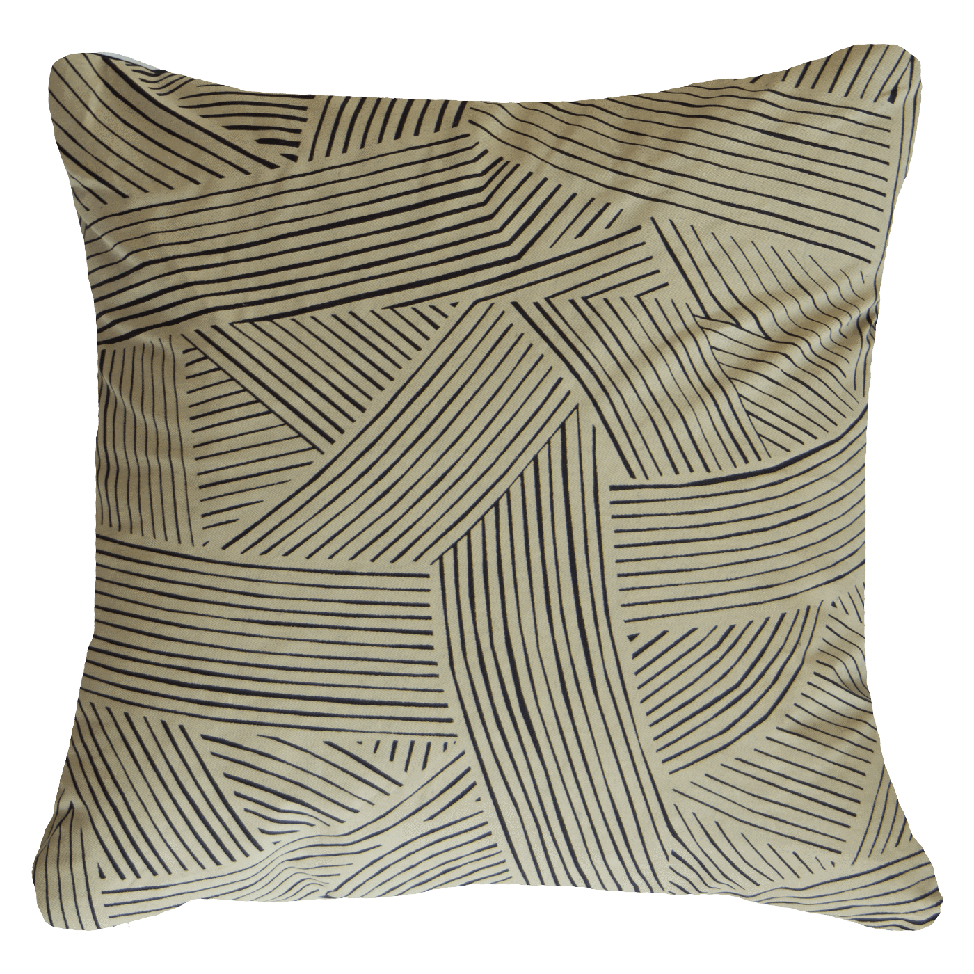 Bandhini Homewear Design Lounge Cushion Natural / 22 x 22 Rake Rope Black Lounge Cushion 55 x 55cm