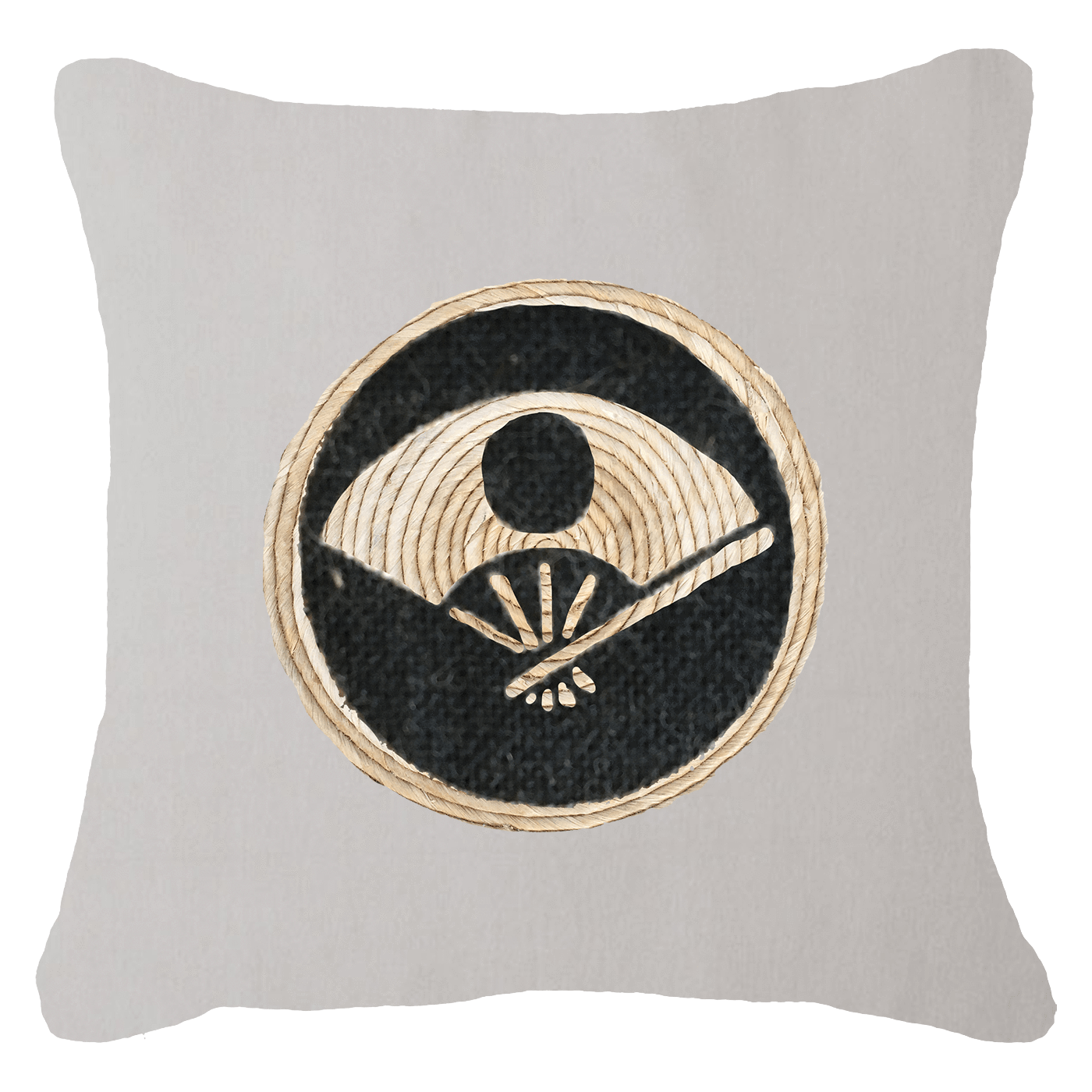 Bandhini Homewear Design Lounge Cushion Natural / 55 x 55 cm Place Mat Fan Natural Lounge Cushion 55 x 55 cm