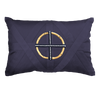 Bandhini Homewear Design Lounge Cushion Navy / Outdoor / 14 x 21 Bamboo Ring Navy on Navy Lumber Cushion 35 x 53 cm