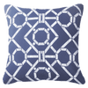 Bandhini Homewear Design Lounge Cushion Navy / Naval Sea / 22 x 22 Bamboo Hedge Navy Lounge Cushion 55 x 55 cm