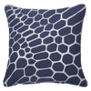 Bandhini Homewear Design Lounge Cushion Navy / Exotic Dark / 22 x 22 Bone Taka Navy Lounge Cushion 55x55cm
