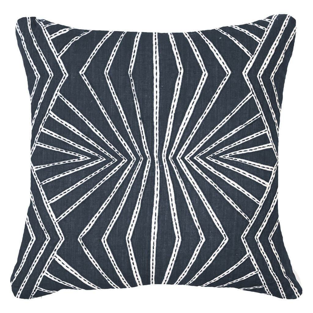 Bandhini Homewear Design Lounge Cushion Navy / Naval Sea / 22 x 22 Fan Navy Lounge Cushion 55x55cm