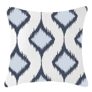 Bandhini Homewear Design Lounge Cushion Navy / 22 x 22 Inner Ikat Cluster Navy Lounge Cushion 55 x 55 cm