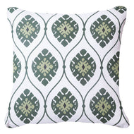 Bandhini Homewear Design Lounge Cushion Navy / Naval Sea / 22 x 22 Inner Ikat Repeat Emerald Lounge Cushion 55x55cm