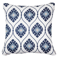 Bandhini Homewear Design Lounge Cushion Navy / Exotic Dark / 22 x 22 Inner Ikat Repeat Navy Lounge Cushion 55x55cm