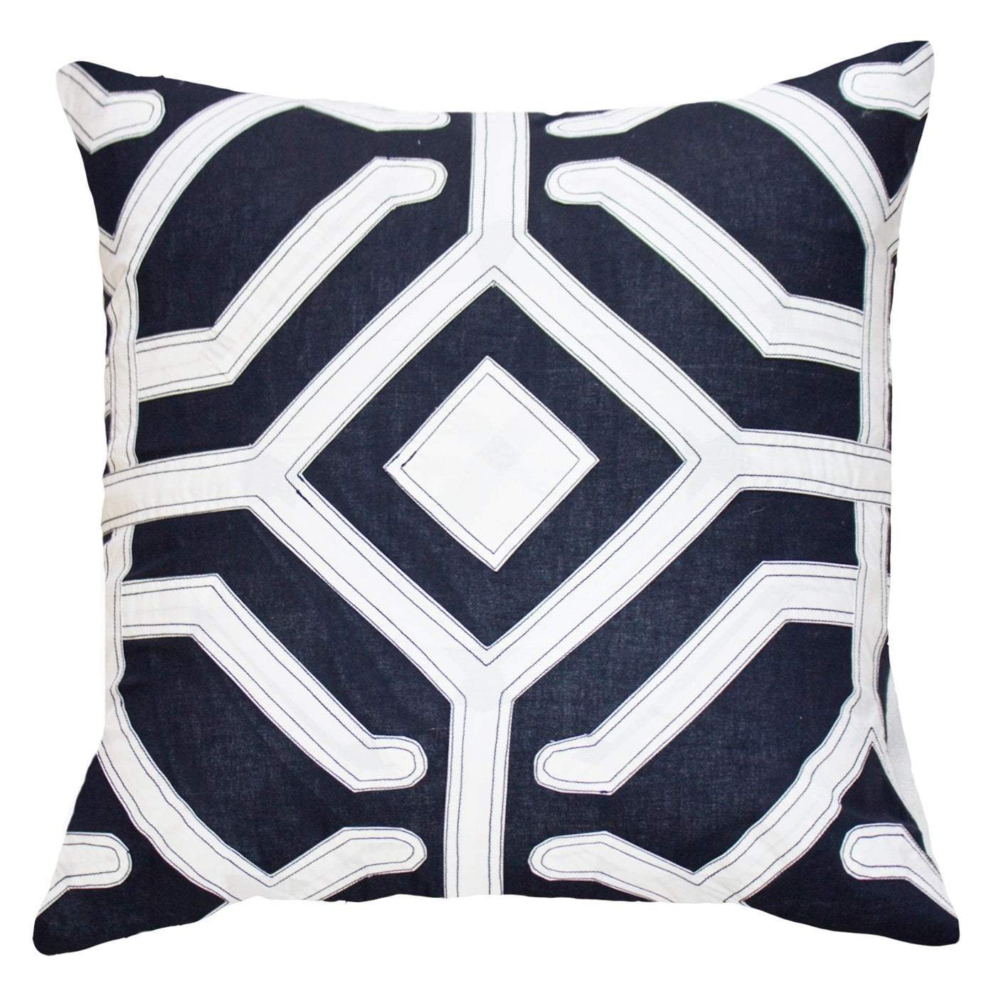 Bandhini Homewear Design Lounge Cushion Navy / 22 x 22 Moko Navy Lounge Cushion 55 x 55cm