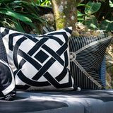Bandhini Homewear Design Lounge Cushion Navy / 22 x 22 Outdoor Compass Black & Beige Lounge Cushion 55 x 55 cm