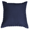 Bandhini Homewear Design Lounge Cushion Navy / 22 x 22 Outdoor Cotton Reverse Navy White Lounge Cushion 55 x 55 cm