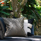 Bandhini Homewear Design Lounge Cushion Navy / 22 x 22 Outdoor Cross Sash Black Lounge Cushion 55 x 55 cm