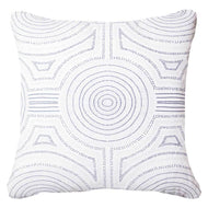 Bandhini Homewear Design Lounge Cushion Navy / Outdoor / 22 x 22 Outdoor Dreamtime Aboriginal Navy Lounge Cushion 55 x 55 cm